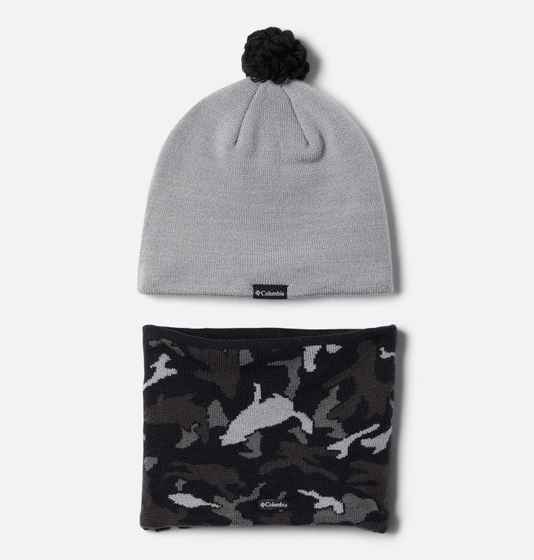 Youth Snow More™ Hat and Gaiter Set | 039 | O/S Snow More Set aus Hut und Gamasche für Kinder, Columbia Grey Critter Camo, back