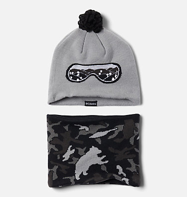Ensemble Bonnet Tour De Cou Snow More Enfant Youth Snow More™ Hat and Gaite | 695 | O/S, Columbia Grey Critter Camo, front