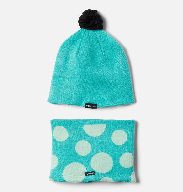 Youth Snow More™ Hat and Gaiter Set | 356 | O/S Toddler Snow More™ Hat and Gaiter Set, Dolphin Dots Print, back