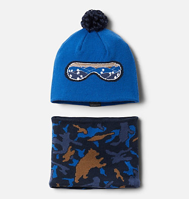 Ensemble Bonnet Tour De Cou Snow More Enfant Youth Snow More™ Hat and Gaite | 695 | O/S, Bright Indigo Critter Camo, front