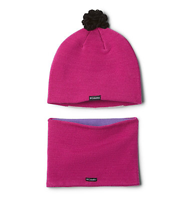Toddlers' Snow More Hat and Gaiter Set Youth Snow More™ Hat and Gaite | 695 | O/S, Pink Ice Bear, back