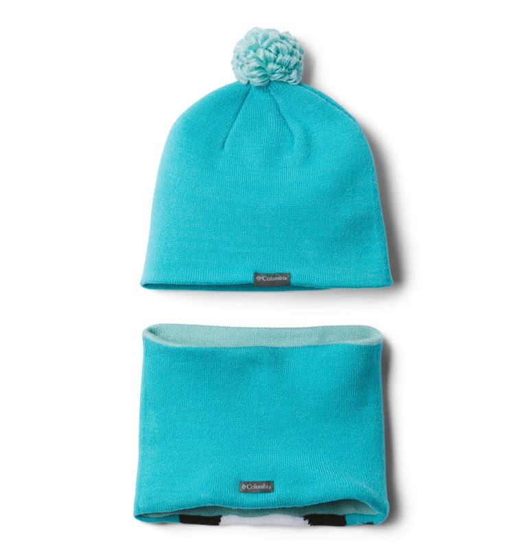Youth Snow More™ Hat and Gaite | 336 | O/S Infant Snow More™ Hat and Gaiter Set, Geyser Penguin, back