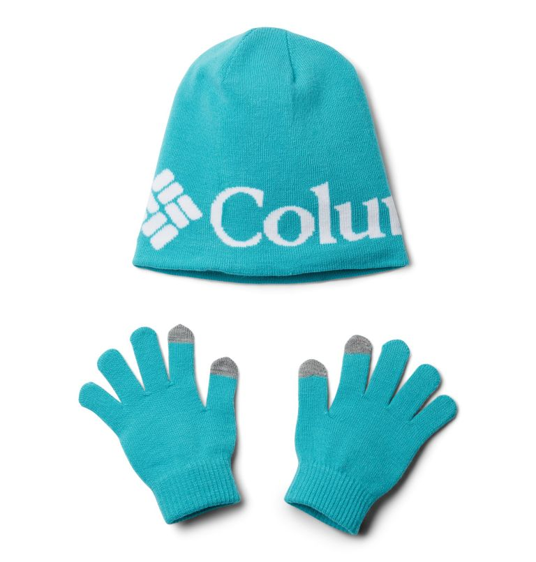 Youth Hat and Glove Set™ II | 336 | O/S Ensemble Bonnet Gants Set II Junior, Geyser, front