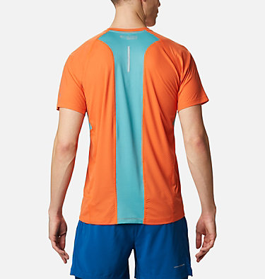 Men's Titan Ultra II Running T-Shirt Titan Ultra™ II Short Sleeve | 463 | XL, Tangy Orange, Teal, back