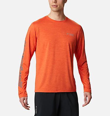 Men's Trinity Trail™ II Long Sleeve T-shirt Trinity Trail™ II Long Sleeve | 590 | S, Tangy Orange, front