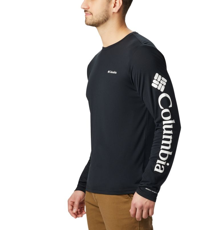 Miller Valley™ Long Sleeve Graphic Tee | 010 | M Men's Miller Valley™ Long Sleeve Graphic T-Shirt, Black, White, a2