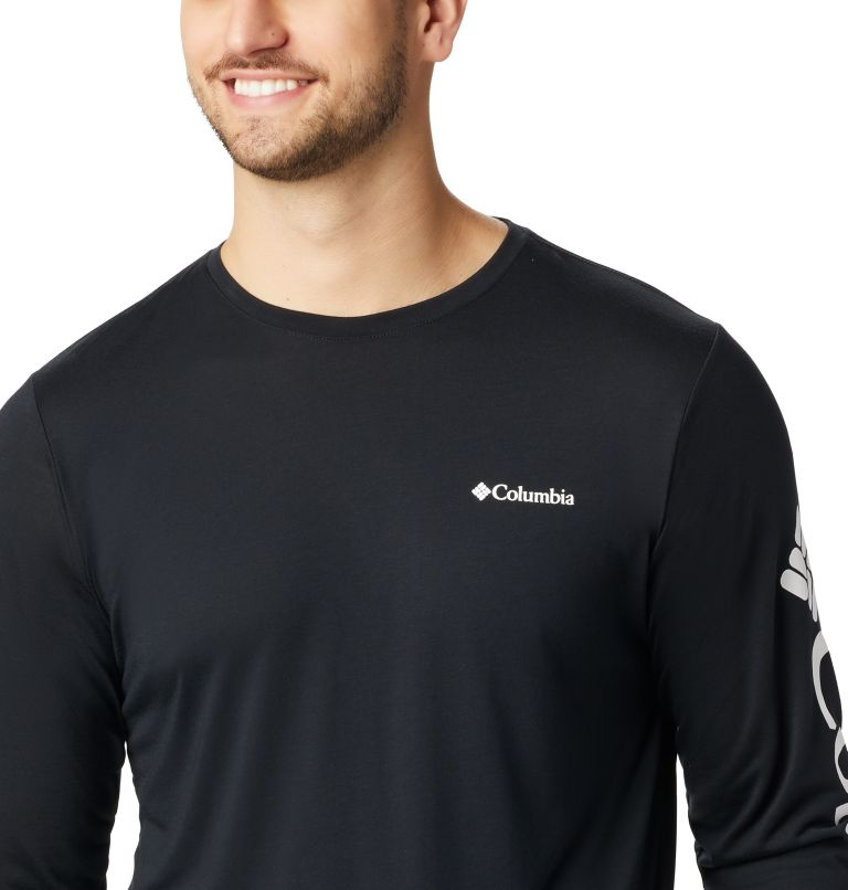 Miller Valley™ Long Sleeve Graphic Tee | 010 | M Men's Miller Valley™ Long Sleeve Graphic T-Shirt, Black, White, a3