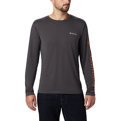 Men's Miller Valley™ Long Sleeve T-shirt Miller Valley™ Long Sleeve Graphic Tee | 010 | L, Shark, Burnished Amber, back