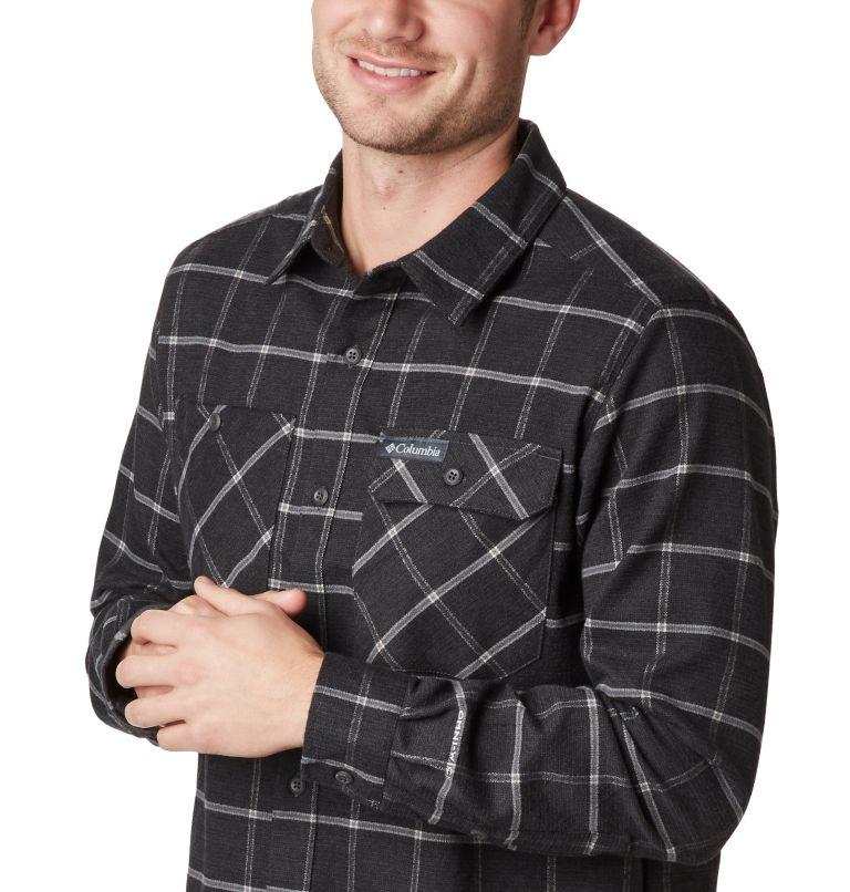 Outdoor Elements™ Stretch Flan | 011 | S Men's Outdoor Elements™ Stretch Flannel Shirt, Shark Grid Plaid, a1