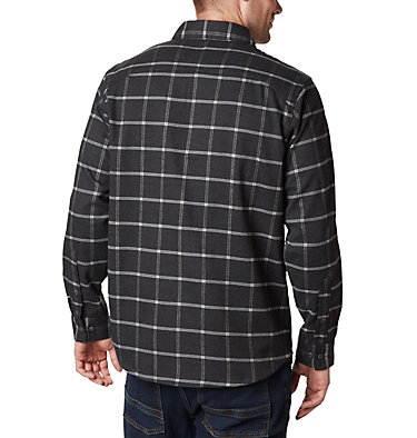 Men's Outdoor Elements™ Stretch Flannel Shirt Outdoor Elements™ Stretch Flannel | 023 | S, Shark Grid Plaid, back