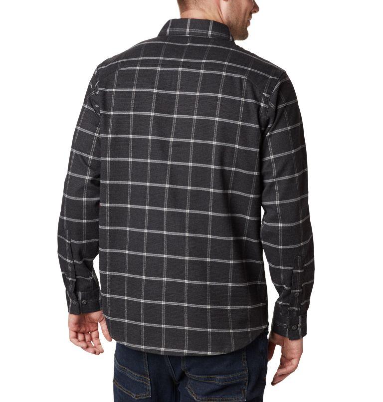 Outdoor Elements™ Stretch Flan | 011 | S Men's Outdoor Elements™ Stretch Flannel Shirt, Shark Grid Plaid, back
