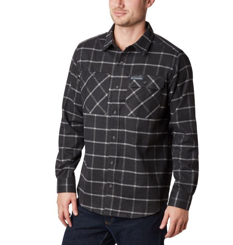 Outdoor Elements™ Stretch Flan | 011 | S Men's Outdoor Elements™ Stretch Flannel Shirt, Shark Grid Plaid, front