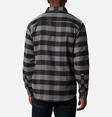 Men's Outdoor Elements Stretch Flannel Shirt Outdoor Elements™ Stretch Flannel | 023 | S, City Grey Buffalo Plaid, back