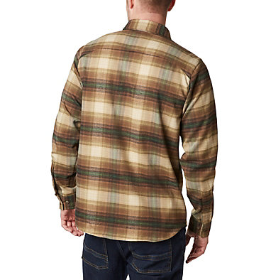 Men's Outdoor Elements™ Stretch Flannel Shirt Outdoor Elements™ Stretch Flannel | 023 | S, Olive Brown Plaid, back