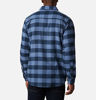 Men's Outdoor Elements Stretch Flannel Shirt Outdoor Elements™ Stretch Flannel | 023 | S, Collegiate Navy Buffalo Plaid, back