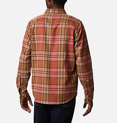 Men's Outdoor Elements™ Stretch Flannel Shirt Outdoor Elements™ Stretch Flannel | 023 | S, Mountain Red Multi Plaid, back