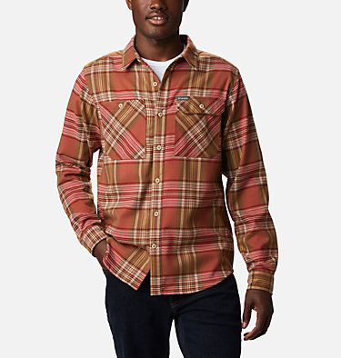 Men's Outdoor Elements™ Stretch Flannel Shirt Outdoor Elements™ Stretch Flannel | 023 | S, Mountain Red Multi Plaid, front