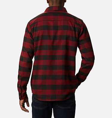 Camisa de franela elástica Outdoor Elements para hombre Outdoor Elements™ Stretch Flannel | 023 | S, Red Jasper Buffalo Plaid, back