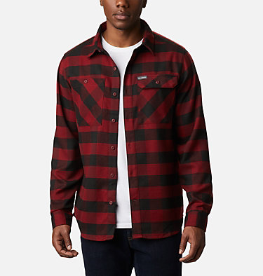 Men's Outdoor Elements Stretch Flannel Shirt Outdoor Elements™ Stretch Flannel | 023 | S, Red Jasper Buffalo Plaid, front