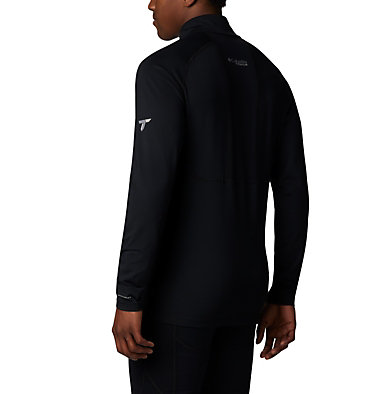 Men's Omni-Heat™ 3D Knit Half Zip Pullover Omni-Heat 3D™ Knit Half Zip | 010 | L, Black, back