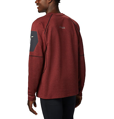 Men's Mount Defiance™ Long Sleeve Crew Neck Shirt - Big Mount Defiance™ Long Sleeve Cr | 664 | 1X, Red Jasper, Black, back