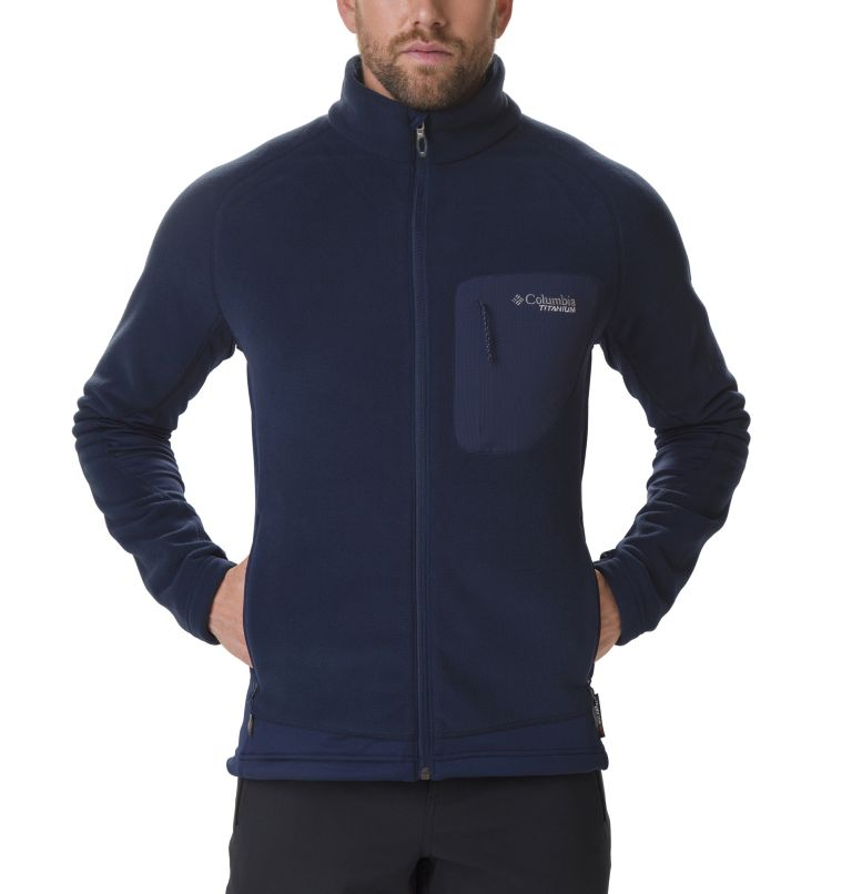 Titan Pass™ 2.0 II Fleece | 464 | L Men's Titan Pass 2.0 II Fleece Jacket, Collegiate Navy, a1