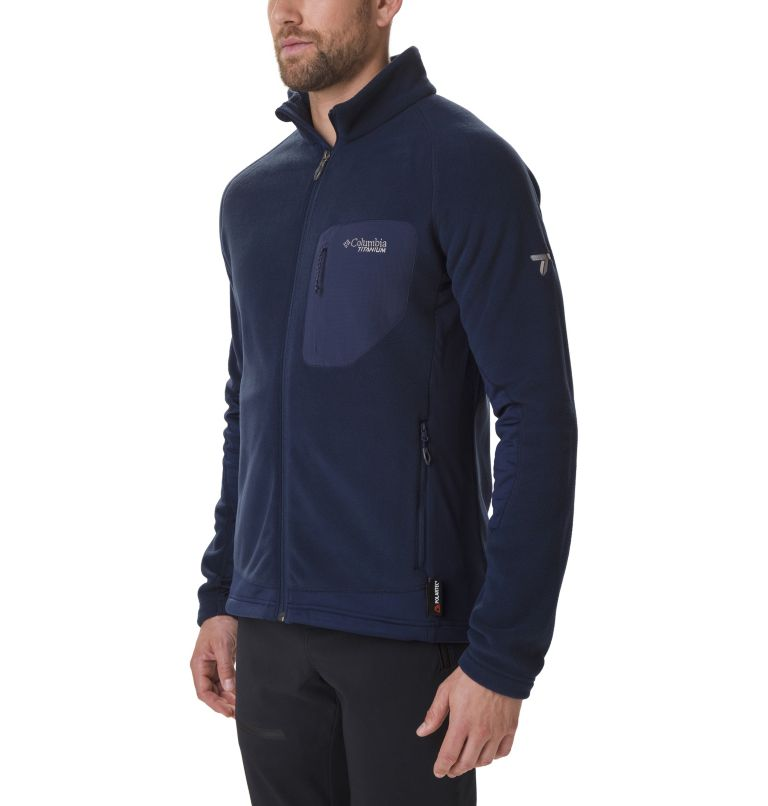 Titan Pass™ 2.0 II Fleece | 464 | L Men's Titan Pass 2.0 II Fleece Jacket, Collegiate Navy, front
