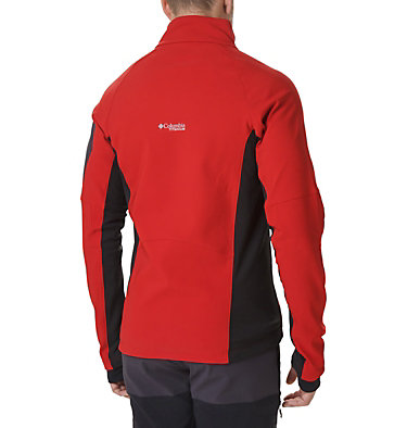 Men's Titan Ridge 2.0 Hybrid Jacket Titan Ridge™ 2.0 Hybrid Jacket | 010 | XL, Mountain Red, Black, back