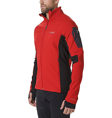 Men's Titan Ridge 2.0 Hybrid Jacket Titan Ridge™ 2.0 Hybrid Jacket | 010 | XL, Mountain Red, Black, front