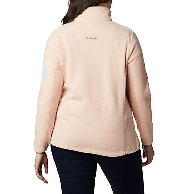 Women's Titan Pass™ II 2.0 Fleece Jacket - Plus Size Titan Pass™ 2.0 II Fleece   870   1X, Peach Cloud, Light Lichen, back
