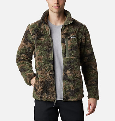 Chaqueta de polar sherpa Winter Pass para hombre Winter Pass™ Print Fleece Full Zip | 449 | L, Cypress Camo, front