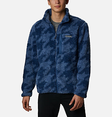 Chaqueta de polar sherpa Winter Pass para hombre Winter Pass™ Print Fleece Full Zip | 449 | L, Bluestone Big Houndstooth, front