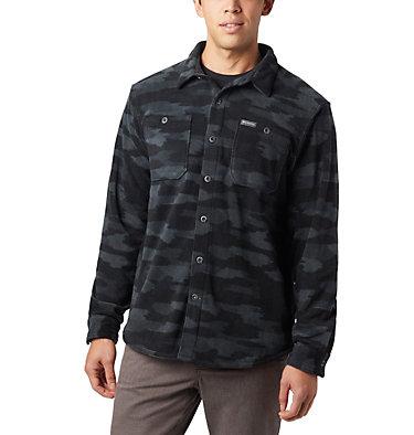 Men's Flare Gun™ Fleece Over Shirt Flare Gun™ Fleece Over Shirt | 316 | XXL, Black Camo, front