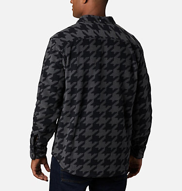 Men's Flare Gun™ Fleece Over Shirt Flare Gun™ Fleece Over Shirt | 316 | XXL, Black Houndstooth, back