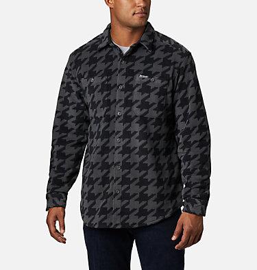 Men's Flare Gun™ Fleece Over Shirt Flare Gun™ Fleece Over Shirt | 316 | XXL, Black Houndstooth, front