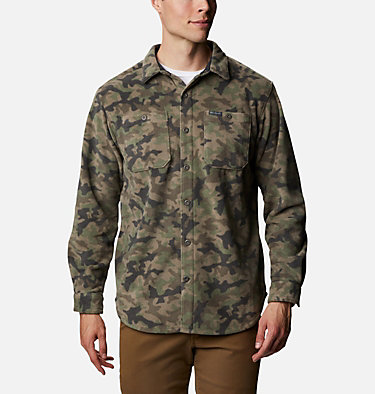Men's Flare Gun™ Fleece Over Shirt Flare Gun™ Fleece Over Shirt | 316 | XXL, Cypress Camo, front