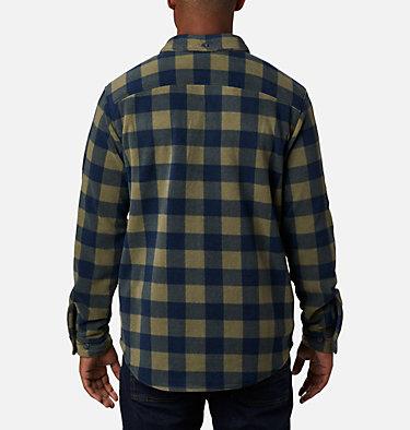 Men's Flare Gun™ Fleece Over Shirt Flare Gun™ Fleece Over Shirt | 316 | XXL, Stone Green Buffalo Check, back