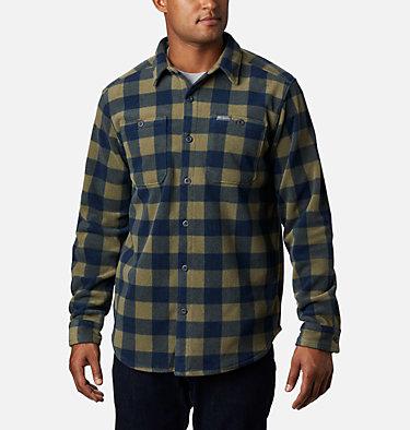 Men's Flare Gun™ Fleece Over Shirt Flare Gun™ Fleece Over Shirt | 316 | XXL, Stone Green Buffalo Check, front