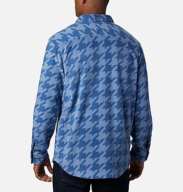 Men's Flare Gun™ Fleece Over Shirt Flare Gun™ Fleece Over Shirt | 316 | XXL, Bluestone Houndstooth, back