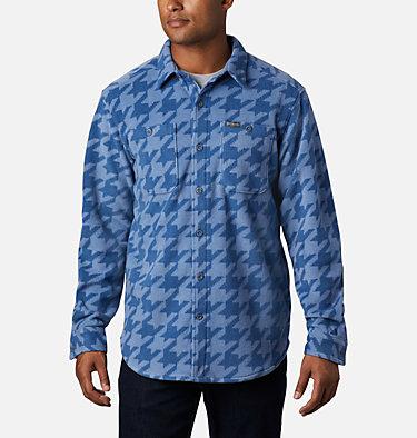 Men's Flare Gun™ Fleece Over Shirt Flare Gun™ Fleece Over Shirt | 316 | XXL, Bluestone Houndstooth, front