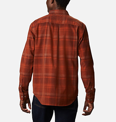 Men's Flare Gun Corduroy Shirt Flare Gun™ Corduroy Shirt | 010 | S, Dark Amber Plaid, back