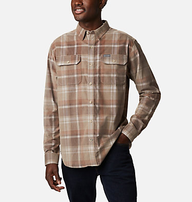 Men's Flare Gun™ Corduroy Shirt Flare Gun™ Corduroy Shirt | 010 | S, Ancient Fossil Plaid, front