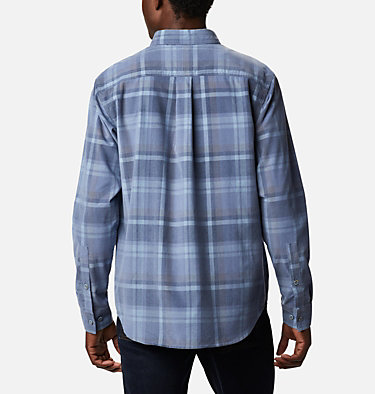 Men's Flare Gun Corduroy Shirt Flare Gun™ Corduroy Shirt | 010 | S, Bluestone Plaid, back