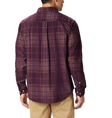 Men's Flare Gun Corduroy Shirt Flare Gun™ Corduroy Shirt | 010 | S, Black Cherry Large Tartan, back