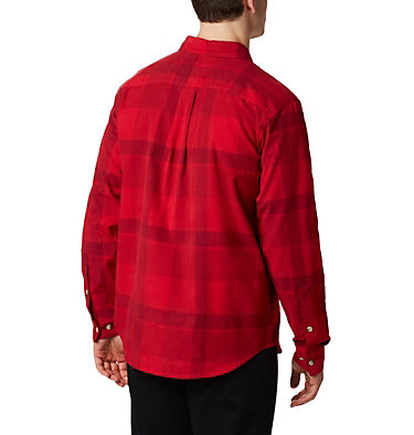 Chemise en velours côtelé Flare Gun™ pour homme Flare Gun™ Corduroy Shirt | 010 | S, Mountain Red Large Check, back