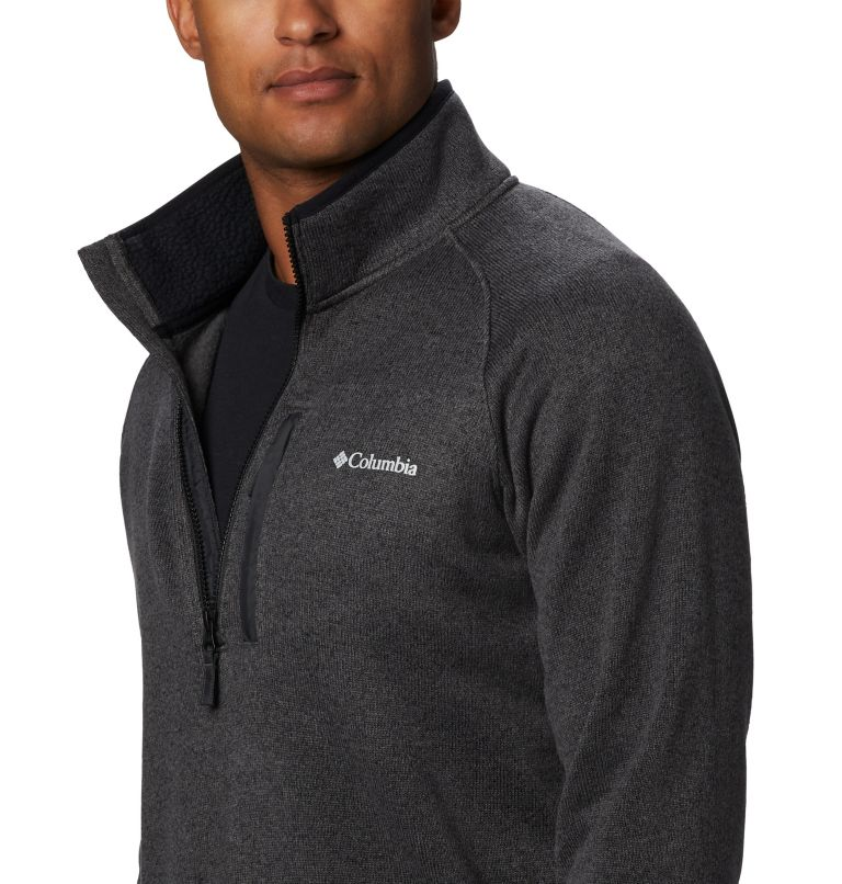 Canyon Point™ Fleece 1/2 Zip | 010 | M Men's Canyon Point™ Half-Zip Fleece, Black, a2