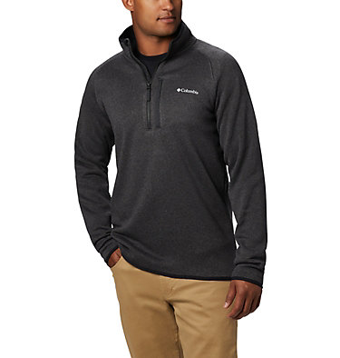 Men's Canyon Point™ Half-Zip Fleece Sweater Canyon Point™ Fleece 1/2 Zip | 449 | M, Black, front
