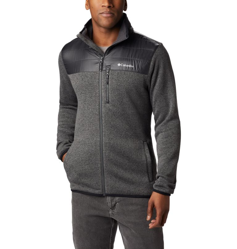 Canyon Point™ Sweater Fleece F | 023 | XL Men's Canyon Point Full Zip Sweater Fleece, City Grey, Shark, a1