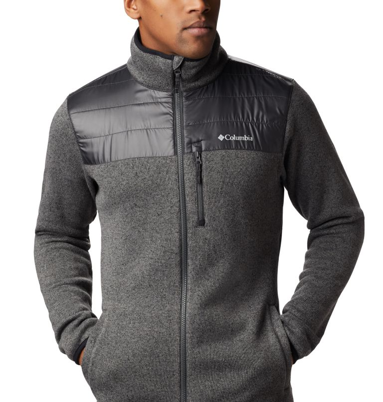 Canyon Point™ Sweater Fleece F | 023 | XL Men's Canyon Point Full Zip Sweater Fleece, City Grey, Shark, a3
