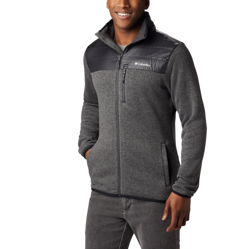 Canyon Point™ Sweater Fleece F | 023 | XL Men's Canyon Point Full Zip Sweater Fleece, City Grey, Shark, front